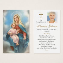 Funeral Prayer Card | Our Lady of the Holy Rosary