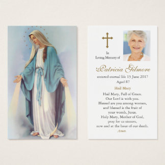Funeral Prayer Card | Radiant Mary