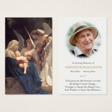 Funeral Prayer Card | Song of Angels