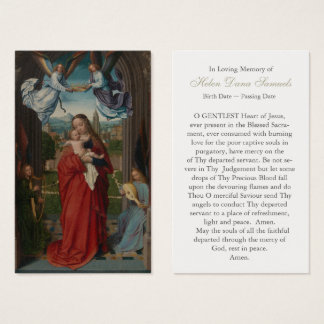 Funeral Prayer Card Virgin and Child