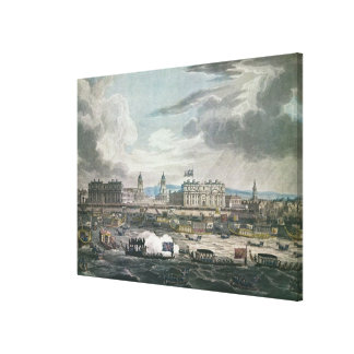 Funeral Procession of the late Canvas Print
