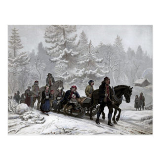 Funeral Procession Postcard