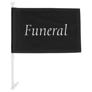 Funeral Procession Car Flag