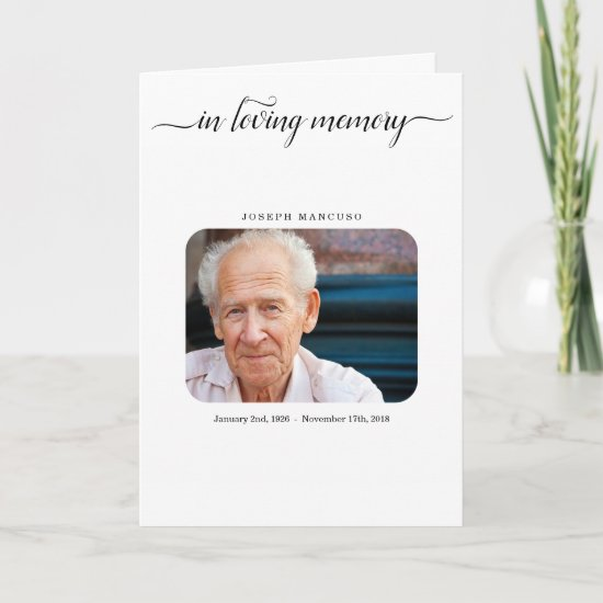 Funeral Program / Memorial Service Pamphlet