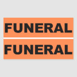 Funeral Rectangular Stickers