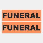 Funeral Rectangular Stickers