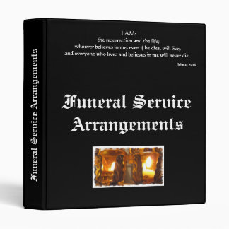 Funeral Service Arrangements 3 Ring Binder