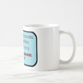 funeral service/texting message coffee mug