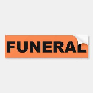 funeral Sticker Car Bumper Sticker
