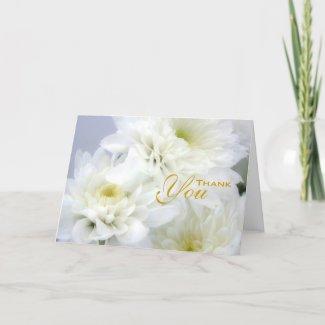 Funeral Sympathy White Floral Thank You