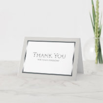 Funeral Thank You Card -- Classic Silver