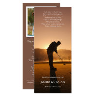 Funeral Thank You Cards | Sunset Golf