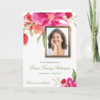 Funeral Thank You Cards | Watercolor Floral Photo