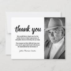 Funeral Thank You | Minimalist Photo