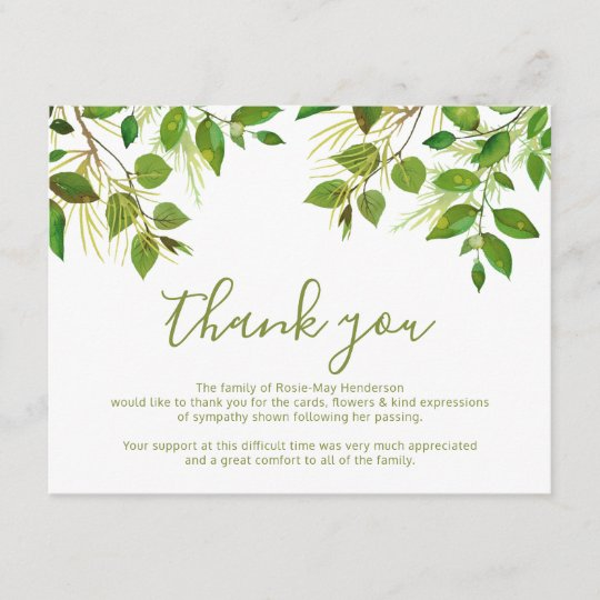 funeral thank you note behreavement zazzle com