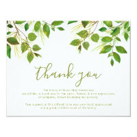 Funeral thank you cards greeting photo cards zazzle funeral thank you note behreavement altavistaventures Choice Image