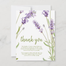 Funeral Thank You Note | Behreavement Lavender