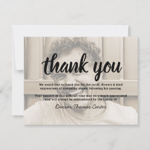 Funeral Thank You Note   Behreavement Photo