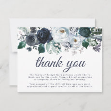Funeral Thank You Note | Bereavement Blue Floral