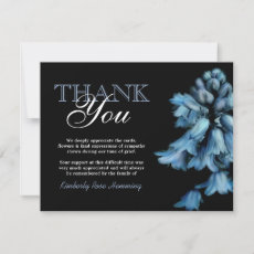 Funeral Thank You Note | Bluebell Flowers