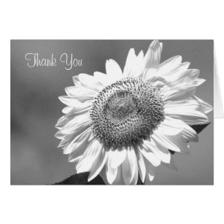 Funeral Thank You Note Card -- Sunflower
