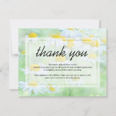Funeral Thank You Note | Daisy Floral Sympathy