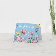 Funeral Thank You Note | Floral Butterfly