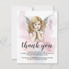 Funeral Thank You Note | Heavenly Girl Angel