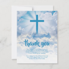 Funeral Thank You Note | Heavenly Sky Cross