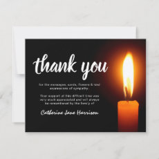 Funeral Thank You Note | Memorial Candle