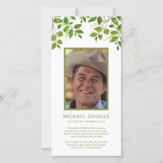 Funeral Thank You Note | Memorial Photo Card