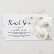 Funeral Thank You Note | Orchid Bereavement Card