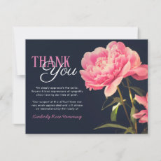 Funeral Thank You Note | Pink Peony Flowers