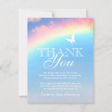 Funeral Thank You Note | Rainbow Butterfly