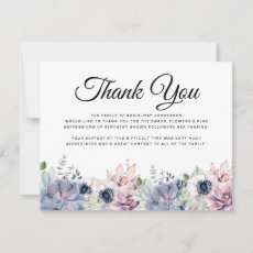 Funeral Thank You Note | Succulent Bereavement
