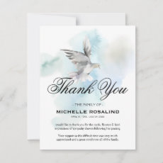 Funeral Thank You Note | Sympathy Dove