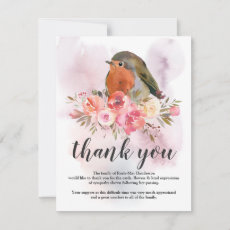Funeral Thank You Note | Sympathy Robin