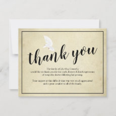 Funeral Thank You Note | Vintage Bereavement