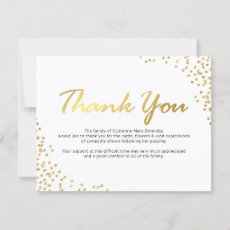 Funeral Thank You Note | White Gold Glamour