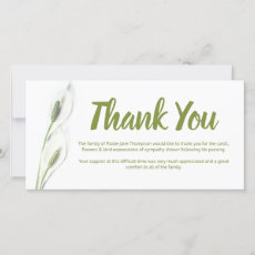 Funeral Thank You Note | White Lily Floral Card