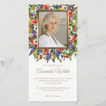 Funeral Thank You Photo Card | Forest Florals