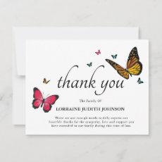 Funeral Thank You | Pretty Butterflies