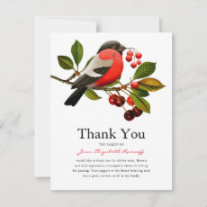 Funeral Thank You | Red Robin and Berries