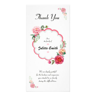 Funeral Thank You Sympathy Card