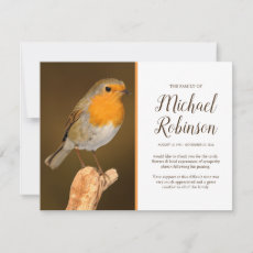 Funeral Thank You | When Robin's appear