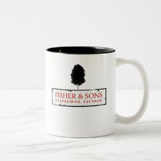 Funeraria de Fisher y de los hijos Tazas De Café