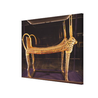 Funerary bed in the form of the sacred cow gallery wrapped canvas
