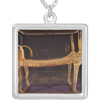 Funerary bed in the form of the sacred cow silver plated necklace