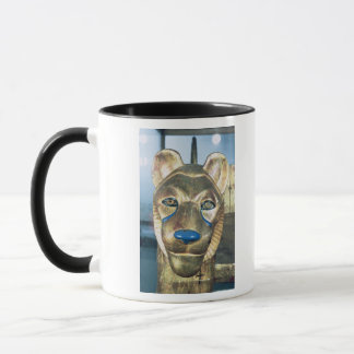 Funerary bedhead in the form of a lion mug