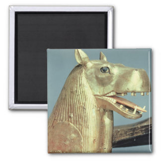 Funerary bedhead in the form of the goddess 2 inch square magnet